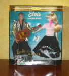 Click here to enlarge image and see more about item BARBELIVIS1: 1996 BARBIE LOVES ELVIS Collector Edition