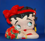 BETTY BOOP ROSES COOKIE JAR