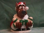 Click here to enlarge image and see more about item CJC001: SCOOBY CHRISTMAS COOKIE JAR