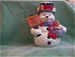 Click here to enlarge image and see more about item CJC115: WINNIE THE POOH SNOWMAN COOKIE JAR