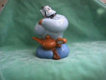 Click here to enlarge image and see more about item CJD003: GENIE COOKIE JAR FROM ALADIN