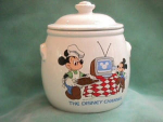 Click here to enlarge image and see more about item CJD004: DISNEY CHANNEL COOKIE JAR