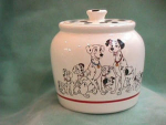 DALMATION CYLINDER COOKIE JAR