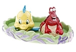 Click here to enlarge image and see more about item D501: DISNEY SEBASTIAN & FLOUNDER LE 250 Shaker Set