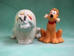 Click here to enlarge image and see more about item DS&O006: PLUTO & BUTCH SALT AND PEPPER SET