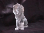 Click here to enlarge image and see more about item lal1003: LALIQUE CRYSTAL  (LION BAMARA)