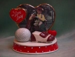 Click here to enlarge image and see more about item MS&P003: I LOVE LUCY (GOLF GAME) SALT & PEPPER