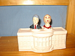 Click here to enlarge image and see more about item NSP1002: BILL & HILARY NODDERS SALT & PEPPER