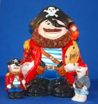 PIRATE COOKIE JAR AND SALT & PEPPER
