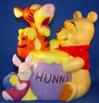 Click here to enlarge image and see more about item POHNPALCJ2:  POOH & PALS COOKIE JAR.