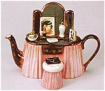 Click here to enlarge image and see more about item T301: VANITY TABLE TEAPOT
