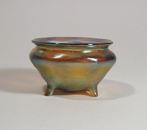 Tiffany Studios Gold Salt, Favrile, 4 Legs
