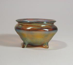 Tiffany Studios Gold Salt, Favrile, 4 Legs (Image1)