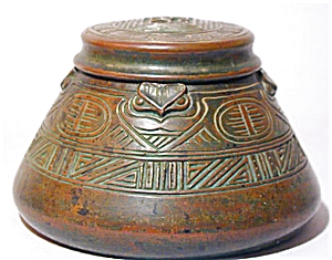 Tiffany Studios American Indian Inkwell (Image1)