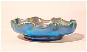 Tiffany Studios Favrile Iridescent Blue Dish (Image1)