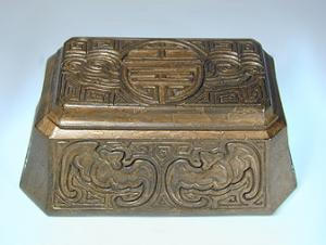 Tiffany Studios Stamp Box:  Chinese Pattern (Image1)