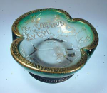 Click here to enlarge image and see more about item DaumBowlGreen: Daum Nancy Cameo Parlant Bowl, Dated 1899