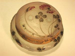 Click here to enlarge image and see more about item DaumBox1: DAUM NANCY ENAMELED CAMEO GLASS BOX