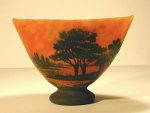 Click here to enlarge image and see more about item daumscenic: Daum Nancy Cameo Glass Landscape Vase, C.1900