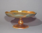 Click here to enlarge image and see more about item GoldCompote: Tiffany Gold Iridescent Compote