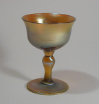 Tiffany Studios Gold Stem Glass, Favrile