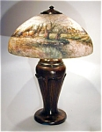 Click here to enlarge image and see more about item Handel6754: Handel 18 inch Scenic Reverse Painted Lamp