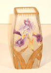 Click here to enlarge image and see more about item MontJoyePurple1: Mont Joye Enameled (Legras) Vase, Circa 1900