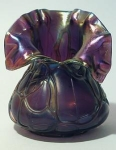 Pallme-Konig Glass Vase, Deep Purple