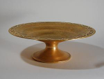 Click here to enlarge image and see more about item SilverCrestCompote: Rare Silver Crest Gold Compote