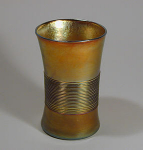 Click to view larger image of Tiffany Studios Favrile Threaded Tumbler (Image1)