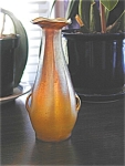 Click here to enlarge image and see more about item Tiff2Handle: Tiffany Studios Favrile Vase with Handles