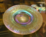 Click here to enlarge image and see more about item Tiffanyplate: Tiffany Iridescent Plate, dated to 1900