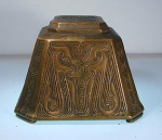 Click to view larger image of Tiffany Studios Inkwell:  Chinese Pattern (Image1)