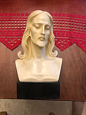 Stone And Marble Bust Of Christ