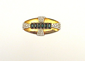 Art Deco Brooch with Rhinestones (Image1)