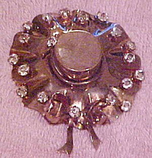 1940s Hat pin with rhinestones (Image1)