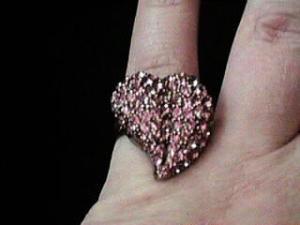 Hollycraft pink rhinestone ring (Image1)