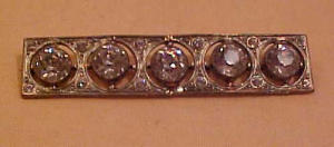Art deco rhinestone bar pin (Image1)