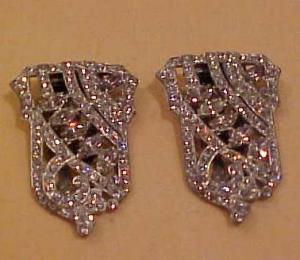 Pair of art deco dress clips (Image1)