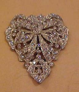 Bow design rhinestone dres clip (Image1)
