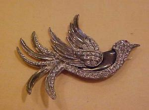 Rhinestone bird pin (Image1)