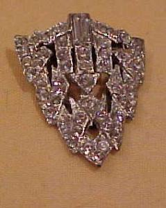 pot metal and rhinestone dress clip (Image1)