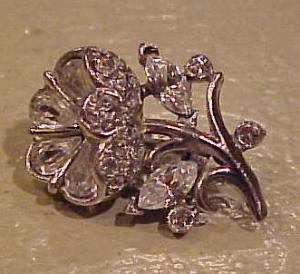 Rhinestone flower brooch (Image1)