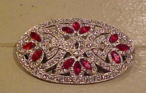 Art Deco ruby clear booch (Image1)