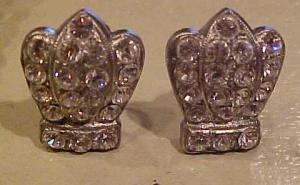 Rhinestone crown earrings (Image1)