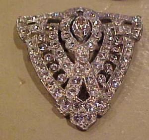 Art deco rhinestone dress clip (Image1)
