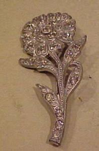 Flower pin with rhinestones (Image1)