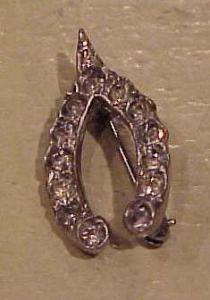 Rhinestone wishbone pin (Image1)