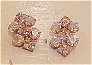 Aurora borealis rhinestone earrings (Image1)