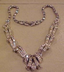 Pennino 1940's rhinestone necklace (Image1)